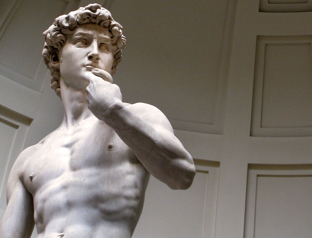 David di Michelangelo all'Accademia di Firenze